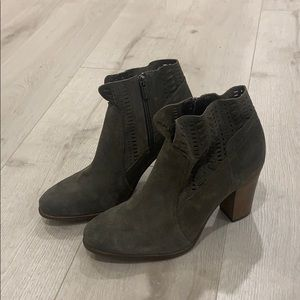Vince Camuto Suede Fenyia Zip Up Ankle Boots